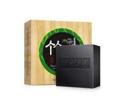 Черное мыло с бамбуковым углем Bioaqua,80 гр