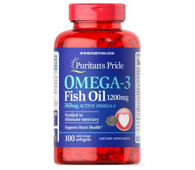 OMEGA-3 FISH OIL 1200 mg,90 softgels