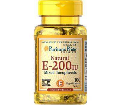 VITAMIN E-200IU-натурального происхождения от Puritan's Pride