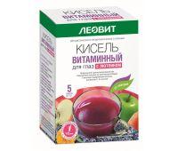Кисель Витаминный для глаз с лютеином. 5 пакетов по 18 г. Упаковка 90 г