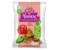 ПОЛЬЗА ЕСТЬ чипсы с клетчаткой томат-базилик 90 г