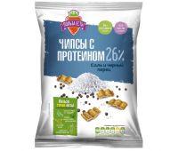 ПОЛЬЗА ЕСТЬ чипсы с протеином соль - черный перец 90 г