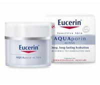Eucerin, AQUAporin ACTIVE, интенсивно увлажняющий крем для чувствительной кожи, нормального и комбинированного типа.