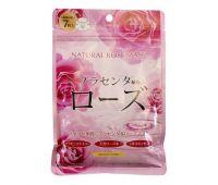 Курс натуральных масок для лица с экстрактом розы 7 шт